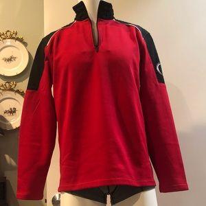 NWOT Calvin Klein Quarter Zip Red & Black Pullover